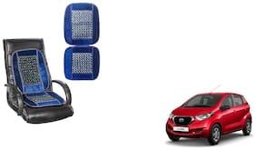 KunjZone Velvet Border Blue Seat Bead Accupressure Design Single piece For Datsun Redi GO
