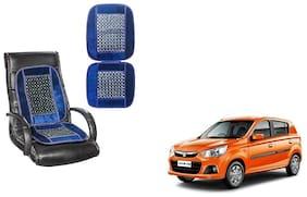 KunjZone Velvet Border Blue Seat Bead Accupressure Design Single piece For Maruti Suzuki Alto K10