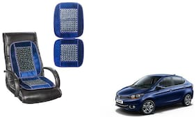 KunjZone Velvet Border Blue Seat Bead Accupressure Design Single piece For Tata Tigor