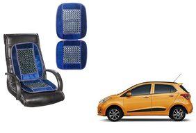 KunjZone Velvet Border Blue Seat Bead Accupressure Design Single piece For Hyundai Grand i10