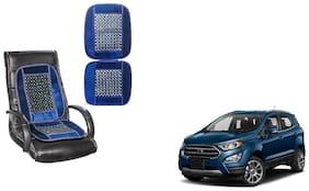 KunjZone Velvet Border Blue Seat Bead Accupressure Design Single piece For Ford EcoSport