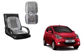 KunjZone Velvet Border Grey Seat Bead Accupressure Design Single piece For Hyundai Eon