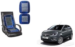 KunjZone Velvet Border Blue Seat Bead Accupressure Design Single piece For Tata Bolt
