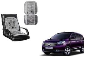 KunjZone Velvet Border Grey Seat Bead Accupressure Design Single piece For Renault Lodgy