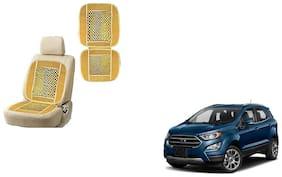 KunjZone Velvet Border Beige Seat Bead Accupressure Design Single piece For Ford EcoSport