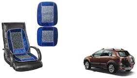 KunjZone Velvet Border Blue Seat Bead Accupressure Design Single piece For Fiat Avventura