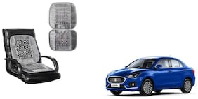 KunjZone Velvet Border Grey Seat Bead Accupressure Design Single piece For Maruti Suzuki Dzire New