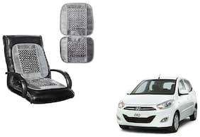 KunjZone Velvet Border Grey Seat Bead Accupressure Design Single piece For Hyundai i10