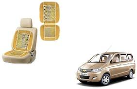 KunjZone Velvet Border Beige Seat Bead Accupressure Design Single piece For Chevrolet Enjoy