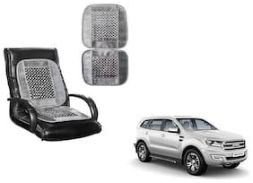 KunjZone Velvet Border Grey Seat Bead Accupressure Design Single piece For Ford Endeavour