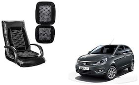 KunjZone Velvet Border Black Seat Bead Accupressure Design Single piece For Tata Bolt
