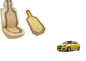 KunjZone Wooden Seat Bead Accupressure Design Single piece For Maruti Suzuki Swift New (Type 2)