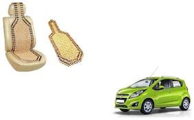 KunjZone Wooden Seat Bead Accupressure Design Single piece For Chevrolet Beat