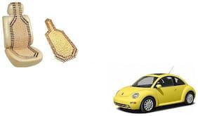 KunjZone Wooden Seat Bead Accupressure Design Single piece For Volkswagen Beetle