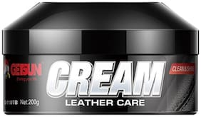 Getsun Leather Care Cream - Clean & Shine For Car Interiors & Upholstery,Bike & Car Seats & Gear,Trim,Sofa,Home & Office Seating,Recliner,Bean Bags,Luggage & Bags,Jackets,Shoes & Belts