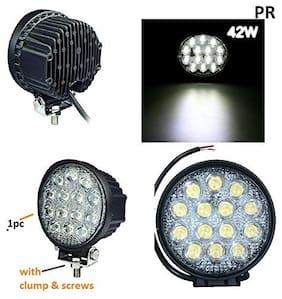 Led Bar / Fog Light / Work Light Bar Heavy Duty Bar Light 14 Led Round 42 W (White Light) Off-Roading