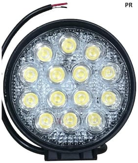 Led Bar / Fog Light / Work Light Bar Heavy Duty Bar Light 14 Led Round 42 W (White Light) Off-Roading