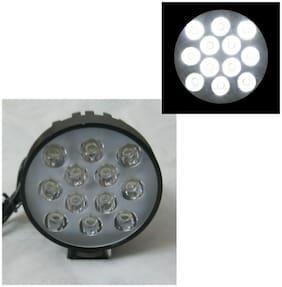 Led Bar / Fog Light / Work Light Bar Heavy Duty Bar Light 12 Led Round (Black Body)(White Light) Off-Roading