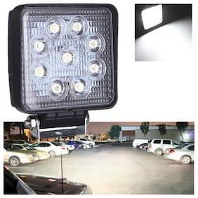 Led Bar / Fog Light / Work Light Bar Heavy Duty Bar Light 9 Led Auxiliary Light Square Off-Roading For Bike and Car
