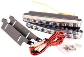 Letsmodify - Car Daylight Day Time Daytime Running Light Drl (8 Led) Super White Bright Light