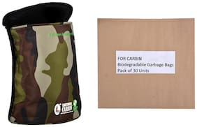 Lighthouse Semi Cylindrical Cloth Car Bin ( Cargo Print) With 30 Units Biodegradable Garbage Bags