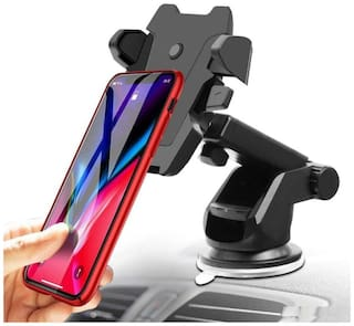 Long Neck One Touch Car Dashboard/Glass Mount Phone Mobile HolderFor Force Motors