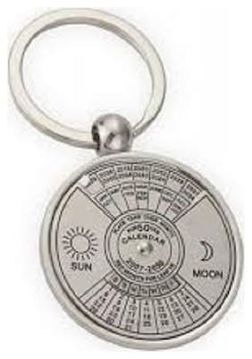 Lovex Silver 50 Year Calender Key Chain