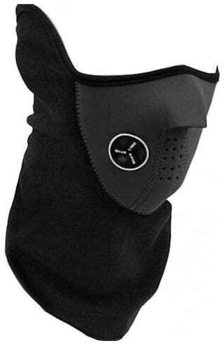 Luxantra Black Bike Face Mask for Men & Women