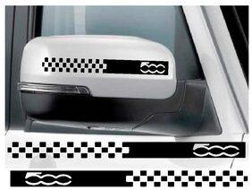 LYOMAN 2Pcs Audi Car Rear View Mirror Stickers De cor DIY Car Body Sticker Side Decals Stripe Decals Vinyl Graphic Black