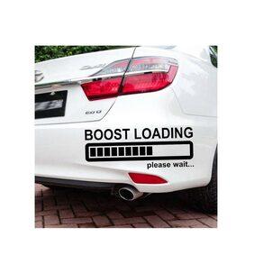 LYOMAN Boost loading Please Wait... Car Sticker For Car Bumper Hood Door Side Black