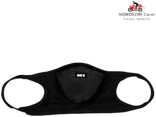 Mobidezire M1 Dust Protective Face Mask Mouth & Nose Respirator Outdoor(Black, Freesize)