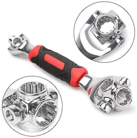 MadSan Multi-Function Socket Wrench 48 Tools in One with 360 deg Rotating Head | Tiger Wrench Works with Spline Bolts | 6-Point, 12-Point, and Any Size Standard or Metric