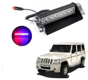 Mahindra Bolero Waterproof 8 LED Red Blue Police Flashing Light
