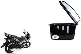 mahindra Centuro Dua Trendy Black Silver Side Box Extra Luggage Box