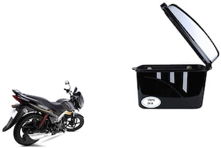 mahindra Centuro Dua Trendy Black Silver Side Box Extra Luggage Box
