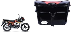 Mahindra Centuro RockStar Side Luggage Box Vivo Black Red for Extra Luggage for Bikes