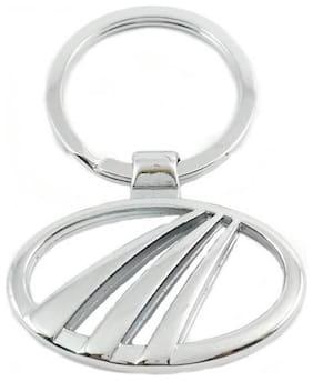 Mahindra Silver Logo Metal Key Chain  (Silver)