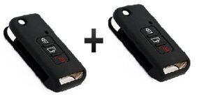 Mahindra XUV 500 Flip Key Black (Pack Of 2)