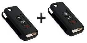 Mahindra XUV 500 Flip Key Black (Pack Of 2)