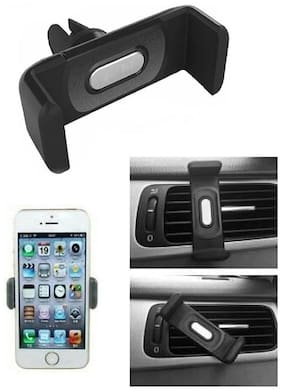 Marketwala Car Mobile Holder with Adjustable Mount and 360 Rotation for Smartphones and Mini Tablets (Pack of 1) Black Color