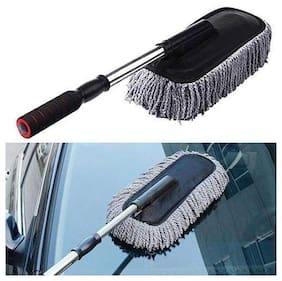 Marketwala Microfiber Flexible Car Cleaning Duster Car Wash Dust Wax Mop Car Washing Brush (Pack of 1) Black