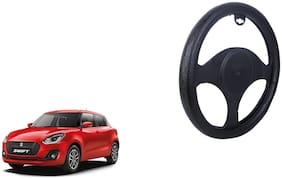 Maruti Swift Steering Cover Black Dual Leatherite Design