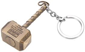 Marvel Comics The Avengers Key Ring Thor's Hammer Metal Key Chain