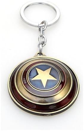 Marvel Super Hero The Avengers Captain America Shield Key Chain