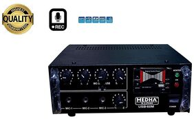 MEDHA PROFESSIONAL RECORDING 60 WATT P.A. AMPLIFIER;3 MICROPHONES;1 AUX AND 1 USB INPUT