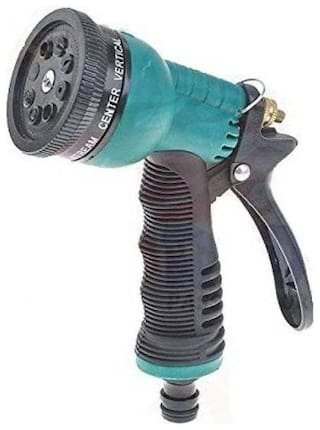 Meenamart Hose Nozzle Water Spray Gun Easy To Use Multi Purpose (Black and Green) 0 L Hose-end Sprayer  (Pack of 1)