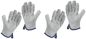 Men's Leather Work Gloves for Driving, Rigger, Industrial Safety, Gardening Fitness(SET OF 2)
