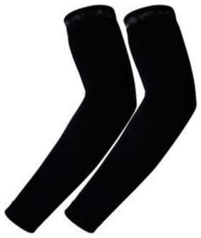 mens and women Bike Riders  Arm Sleeves Strechable -1 pair black colour