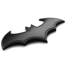Metal 3D DIY Car Vehicle Auto Wall Decoration Sticker Art Bat Shape Pattern # LL Store