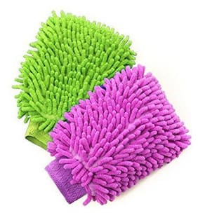 Microfiber Dusting Cleaning Gloves Double-Sided for Home, Office, Kitchen, Dish, Car and Glass Wash Cleaning